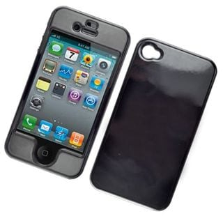 Insten Black Hard Snap-on Glossy Case Cover For Apple iPhone 4/ 4S