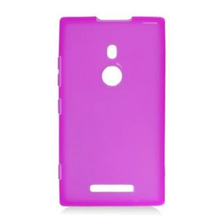 Insten Purple Frosted TPU Rubber Candy Skin Case Cover For Nokia Lumia 925