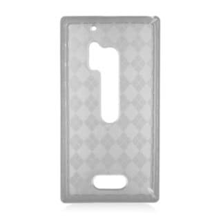 Insten Black Clear Checker TPU Rubber Candy Skin Case Cover For Nokia Lumia 928