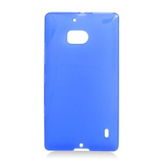 Insten Blue Frosted TPU Rubber Candy Skin Case Cover For Nokia Lumia 929