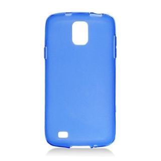 Insten Blue Frosted TPU Rubber Candy Skin Case Cover For Samsung Galaxy S4 Active GT-I9295
