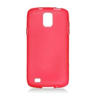 Insten Red Frosted TPU Rubber Candy Skin Case Cover For Samsung Galaxy S4 Active GT-I9295