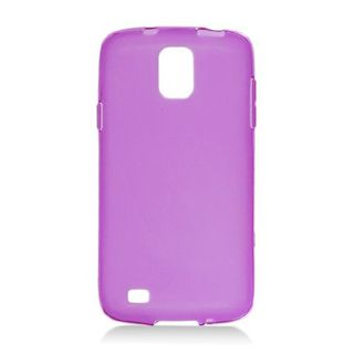 Insten Purple Frosted TPU Rubber Candy Skin Case Cover For Samsung Galaxy S4 Active GT-I9295