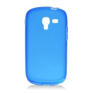 Insten Blue Frosted TPU Rubber Candy Skin Case Cover For Samsung Galaxy Exhibit T599