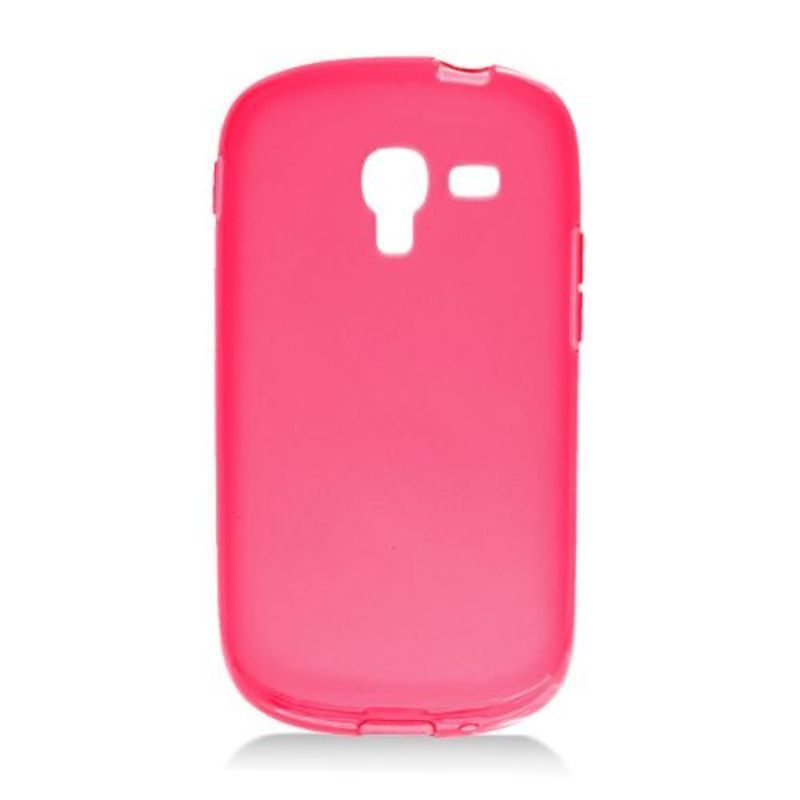 Insten Red Frosted TPU Rubber Candy Skin Case Cover For S...