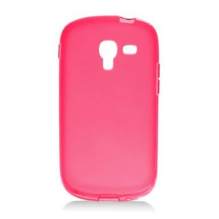 Insten Red Frosted TPU Rubber Candy Skin Case Cover For Samsung Galaxy Exhibit T599