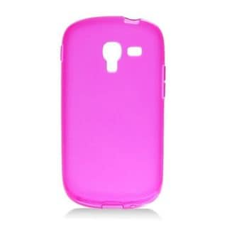 Insten Hot Pink Frosted TPU Rubber Candy Skin Case Cover For Samsung Galaxy Exhibit T599