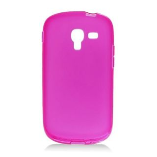 Insten Purple Frosted TPU Rubber Candy Skin Case Cover For Samsung Galaxy Exhibit T599