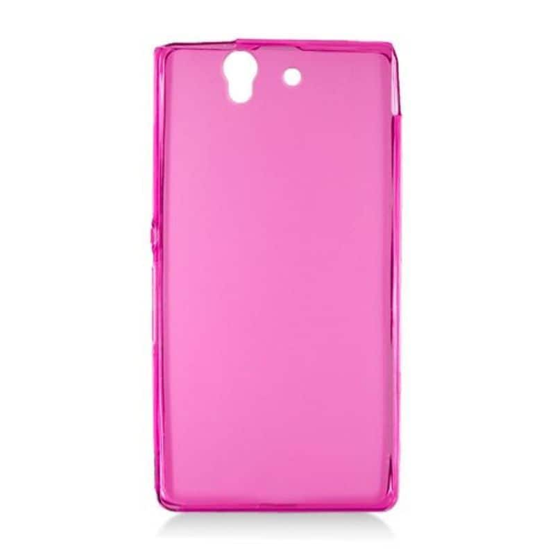 Insten Hot Pink Frosted TPU Rubber Candy Skin Case Cover ...