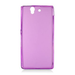 Insten Purple Frosted TPU Rubber Candy Skin Case Cover For Sony Xperia Z
