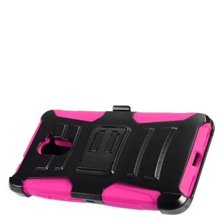 Insten Black/ Hot Pink Hard PC/ Silicone Dual Layer Hybrid Case Cover For ZTE Grand X Max 2/ Imperial Max / Kirk/ Max Duo 4G
