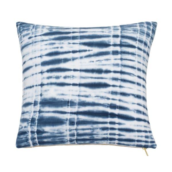 Under The Canopy Shibori Chic Indigo Tie Dye Decorative Pillow
