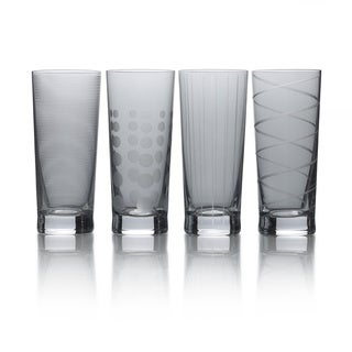 Mikasa Cheers Smoke 19.75oz Highball Set Of 4 Drinking Glass Boxed
