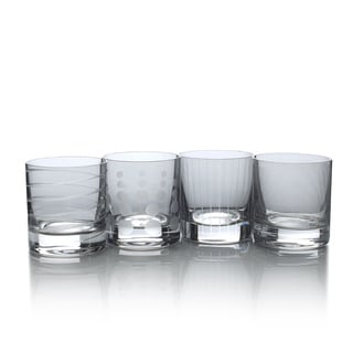 Mikasa Cheers Smoke 12.75 Oz Double Old Fashioned Set Of 4