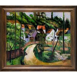 Cezanne 'Turn in the Road' Hand Painted Framed Oil Reproduction