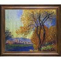 Claude Monet 'Antibes, View of Salis' Hand Painted Framed Oil Reproduction on Canvas