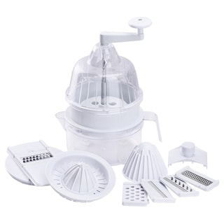 Multi-Functional Vegetables Machine, A Spiral Vegetable Cutter, A Vegetable Grater With 5 Blades, A Manual Fruit Juice Squeezer