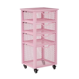 OSP Designs Clayton 4 Drawer Rolling Cart In Metal Finish Frame|https://ak1.ostkcdn.com/images/products/15304052/P21776899.jpg?impolicy=medium