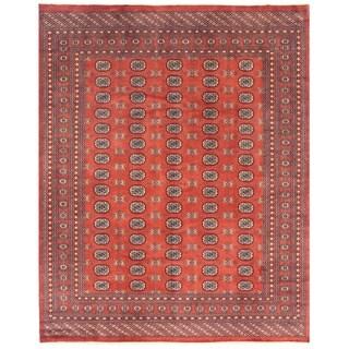 Handmade Herat Oriental Pakistani Bokhara Wool Rug - 8' x 9'10 (Pakistan)
