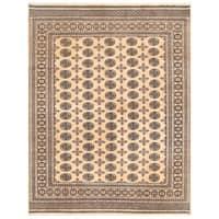 Handmade Herat Oriental Pakistani Bokhara Wool Rug - 7'11 x 10' (Pakistan)
