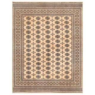 Herat Oriental Pakistani Hand-knotted Bokhara Wool Rug (7'11 x 10')