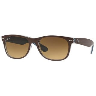 Ray-Ban New Wayfarer Bicolor RB2132 Unisex Brown/Blue Frame Brown Gradient 55mm Lens Sunglasses