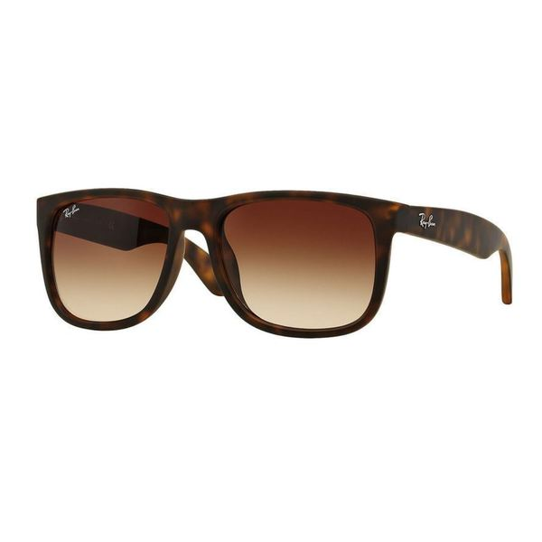 ray ban justin classic rb4165f unisex tortoise frames brown gradient lenses sunglasses