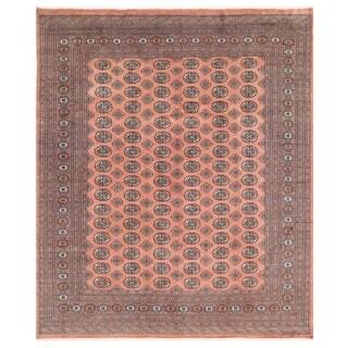 Herat Oriental Pakistani Hand-knotted Bokhara Wool Rug (8'2 x 9'7)