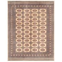 Handmade Herat Oriental Pakistani Bokhara Wool Rug (Pakistan) - 8'1 x 10'2