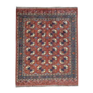 1800GetARug Pure Wool Hand-knotted Afghan Ersari Elephant Feet Design Rug (9'3 x 12'5)