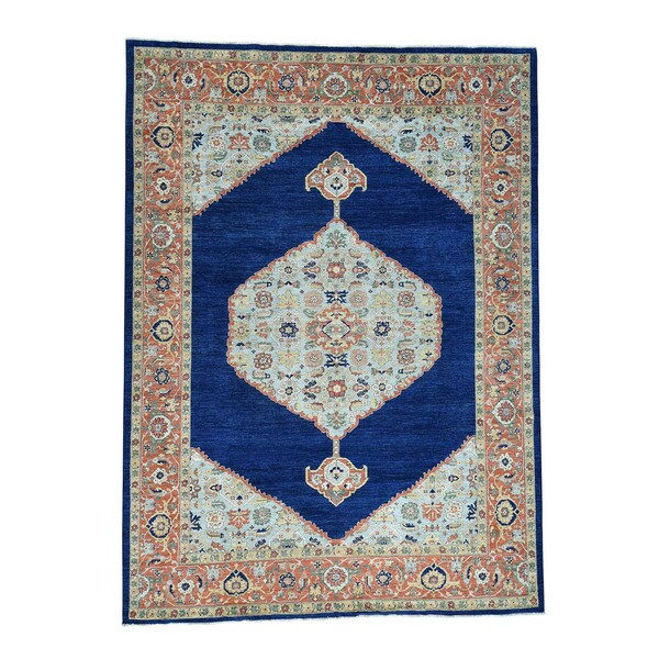 Fine Round Persian Bidjar Area Rug Hand Knotted Wool And: Shop Shahbanu Rugs Wool Hand-knotted Antiqued Bidjar