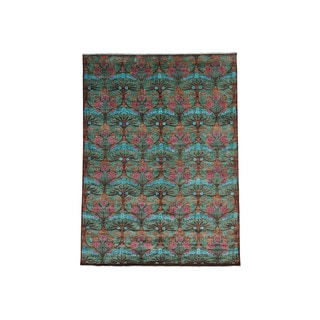 1800GetARug Hand-Spun Wool Modern Arts and Crafts Hand-Knotted Rug (8'10 x 11'10)