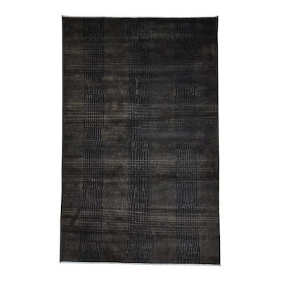 Shahbanu Rugs Wool/Silk Nepali Hand-knotted Oriental Rug (5'7 x 7'9)
