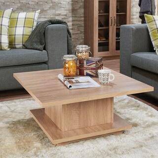 Acme Furniture Tally Weathered Oak Wood Coffee Table