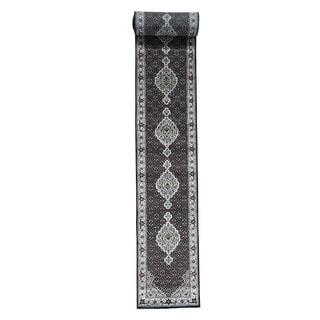 1800getarug Wool and Silk Hand-Knotted 250 Kpsi Tabriz Mahi XL Runner Rug (2'8x24'0)