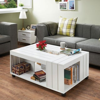 Acme Furniture Eaton White Wood Coffee Table