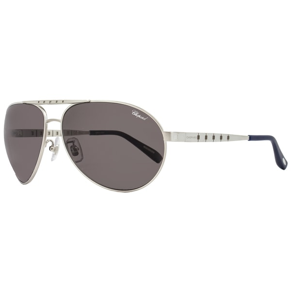 e5a67a499a Shop Chopard SCHB01M S80Z Men s Satin Palladium Frame Grey Lens Sunglasses  - Free Shipping Today - Overstock - 15312332