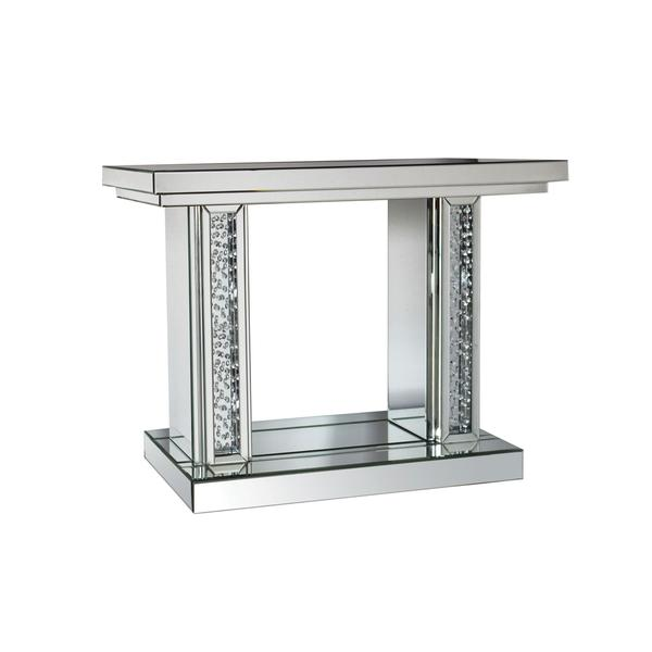Shop Acme Furniture Nysa Mirrored Wood Console Table