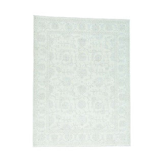1800GetARug White Wash Wool Peshawar Hand-knotted Oriental Rug (9'1 x 12)