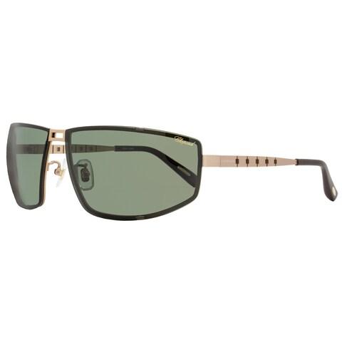 Chopard SCHB02M L45P Men's Satin Rose Gold Frame Green Polarized Lens Sunglasses