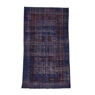 1800GetARug Persian Hamadan Overdyed Hand-knotted Worn Wide Runner Rug (5'7 x 10'1)