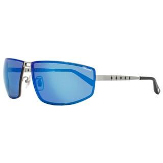 Chopard SCHB02M S80P Men's Satin Palladium Frame Blue Flash Polarized Lens Sunglasses