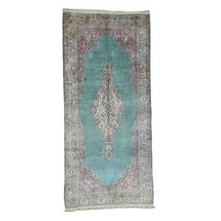 "Shahbanu Rugs Old Persian Kerman Hand-Knotted Gallery Size Oriental Runner Rug (6'0""x13'0"")"