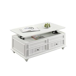 Acme Furniture Natesa Coffee/End Table, White Washed