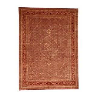1800GetARug Wool/Silk Tabriz Mahi Handmade Tone-on-tone Overdyed Rug (9'2 x12'5)
