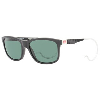 Mille Miglia by Chopard SMM156 703P Men's Matte Black Frame Green Polarized Lens Sunglasses