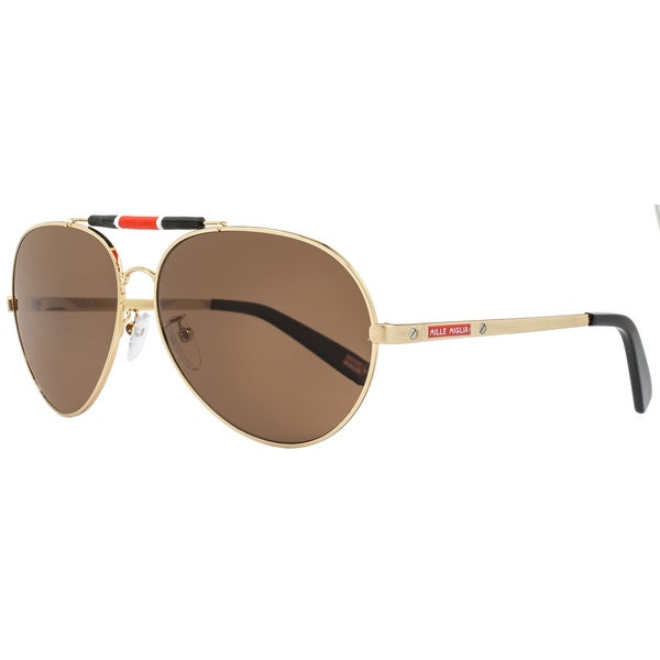 d1d6678613bf Shop Mille Miglia by Chopard SMMA09 H16P Men s Gold Black Frame Brown  Polarized Lens Sunglasses - Free Shipping Today - Overstock - 15312405