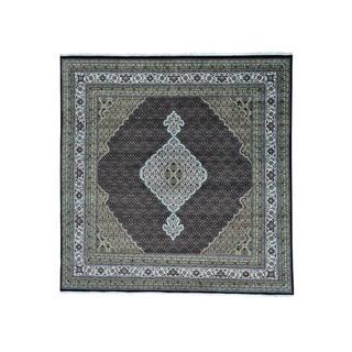 1800GetARug Tabriz Mahi Wool/Silk 250 Kpsi Hand-knotted Square Rug (8' x 9')
