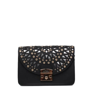 Nikky Alva Black Chain Strap Crossbody Handbag
