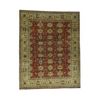 Shahbanu Rugs 100 Percent Wool Karajeh Oversize Oriental Hand-Knotted Rug (11'9 x 15')